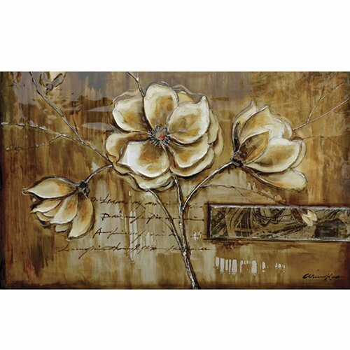 Yosemite Home Decor Revealed Art Bloom of a Plant II Original Painting on Canvas