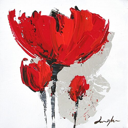 Contemporary & Abstract Art Floral Envy I Original Painting on Canvas