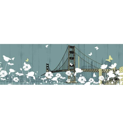 Yosemite Home Decor New Revealed Art Golden Gate Bridge II Graphic Art on Canvas