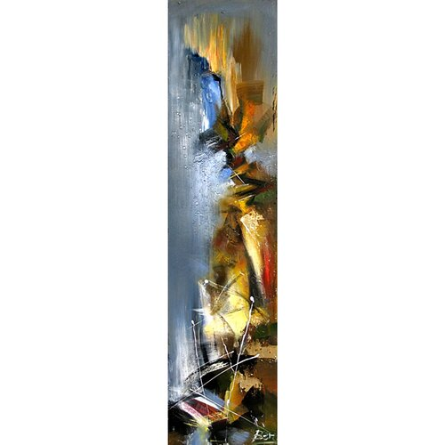 Yosemite Home Decor Contemporary & Abstract Art Stormy Weather II Original Painting on Canvas