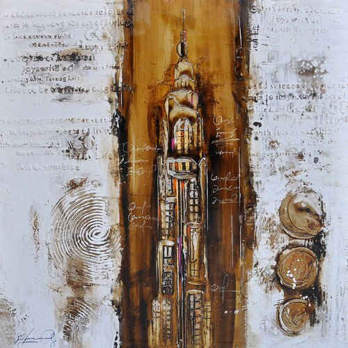 Revealed Art Paris a la Mode II Original Painting on Canvas