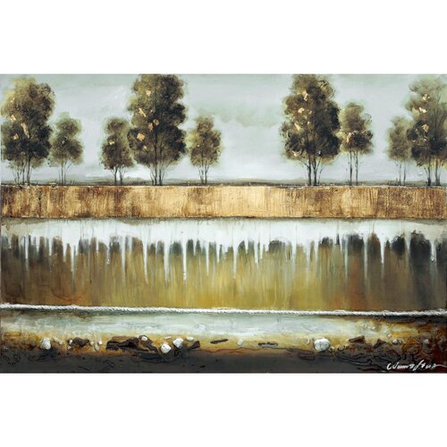 Yosemite Home Decor Revealed Art Forest in the Trees II Original Painting on Canvas