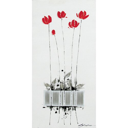 Yosemite Home Decor Contemporary & Abstract Art Tulips Planted Original Painting on Canvas