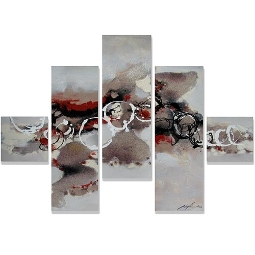 Yosemite Home Decor Contemporary & Abstract Art Ventilation 5 Piece Original Painting on Canvas Set
