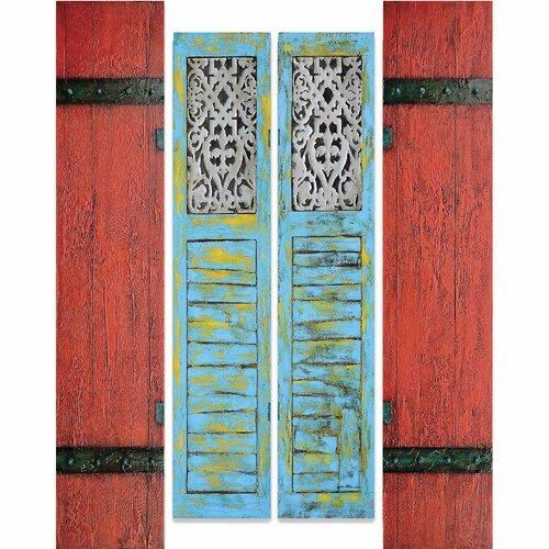 Yosemite Home Decor New Revealed Art Shutters 4 Piece Original Painting on Canvas Set