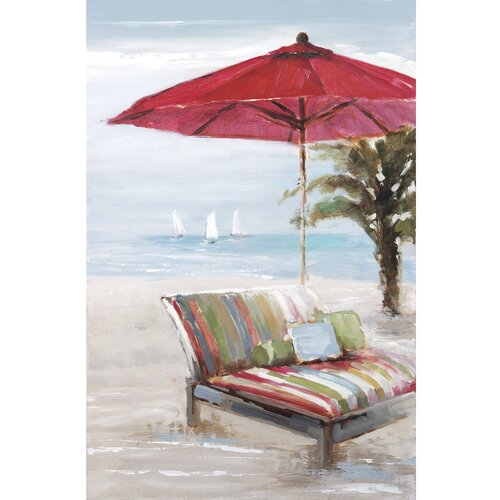 New Revealed Art Outlook on the Beach II Original Painting on Canvas