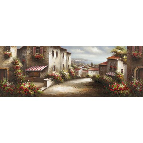 Yosemite Home Decor Revealed Artwork European Village II Original Painting on Canvas