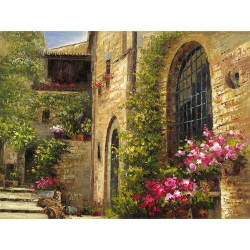 Yosemite Home Decor Revealed Artwork Floral Villa Original Painting on Canvas