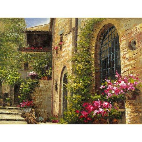 Revealed Artwork Floral Villa Original Painting on Canvas