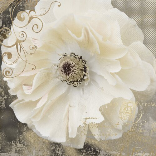 Revealed Artwork Blooming Softly I Graphic Art on Canvas