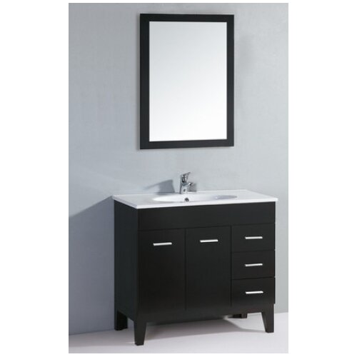 "Yosemite Home Decor Transitional Single 35.5"" Bathroom Vanity Set"
