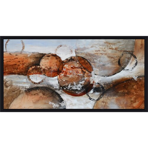 Revealed Artwork Red Planets Painting Print on Canvas