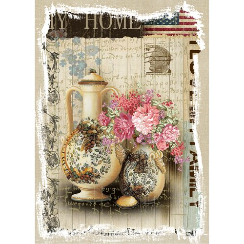 Revealed Artwork American Home Graphic Art on Canvas