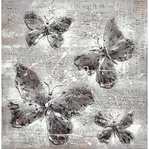Revealed Artwork Butterfly Impressions Graphic Art on Canvas
