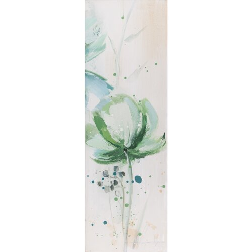 Revealed Artwork Lime Flower III Original Painting on Canvas