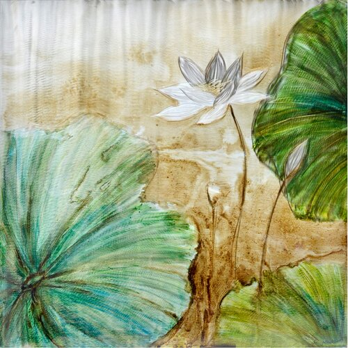 Revealed Artwork Celadon Lotus Original Painting