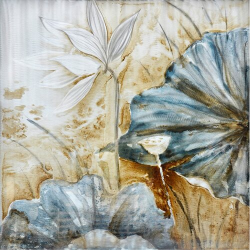 Revealed Artwork Lotus Original Painting on Canvas