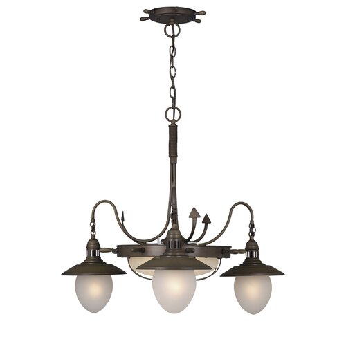 Vaxcel Nautical 3 Light Chandelier