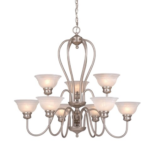 Vaxcel Babylon 9 Light Chandelier