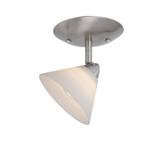 Milano Single Ceiling Light in White Glass
