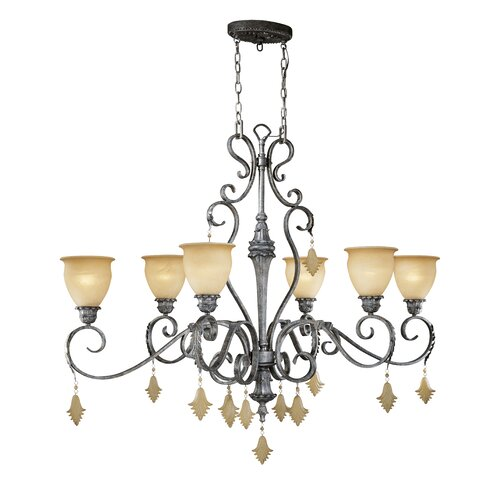 Montmarte 6 Light Oval Chandelier