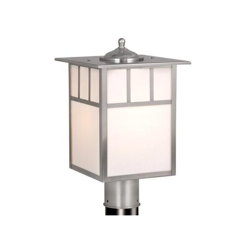 "Vaxcel Mission 1 Light 9"" Outdoor Post Lantern"