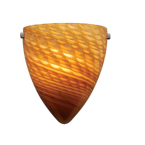 Vaxcel Milano 1 Light Wall Sconce with Penumbra Glass