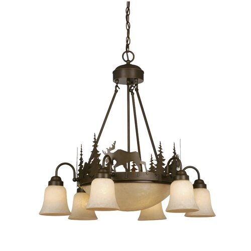 Vaxcel Yellowstone Indoor 9 Light Chandelier