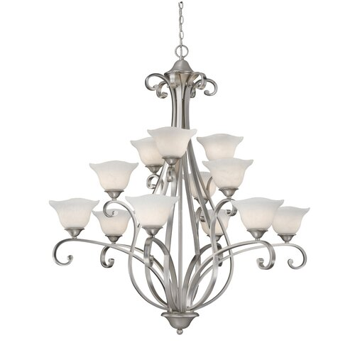 Vaxcel Caspian 12 Light Chandelier