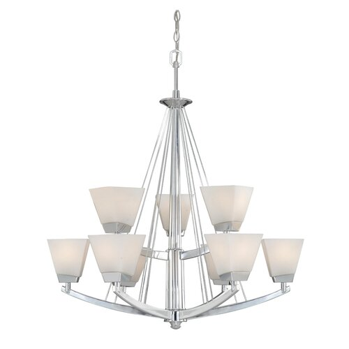 Vaxcel Kendall 9 Light Chandelier