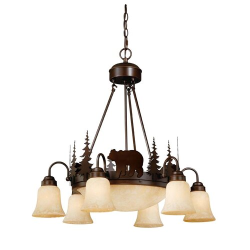 Vaxcel Bozeman 9 Light Chandelier
