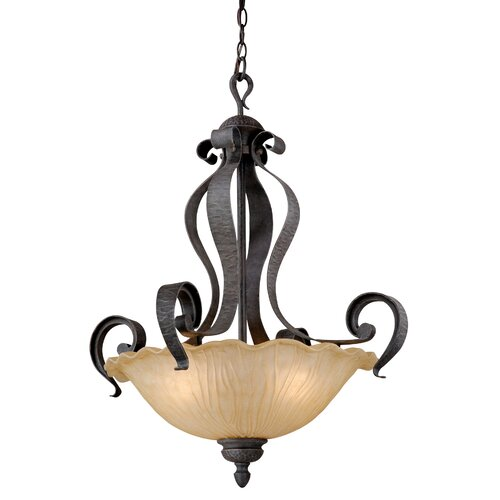 Vaxcel Hapsburg 3 Light Inverted Pendant