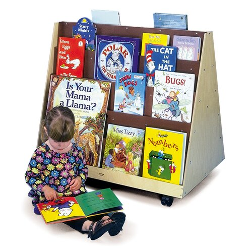 Whitney Brothers Two-Sided Bookcase Cart