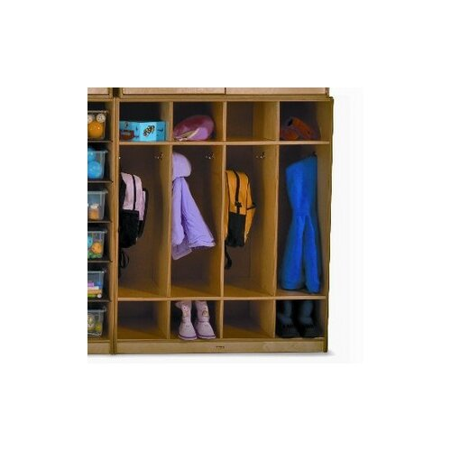 Whitney Brothers 4-Section Wall Storage Coat Locker