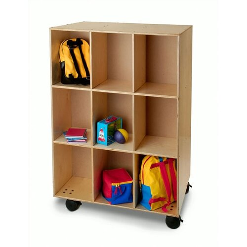 Whitney Brothers Mobile 9 Compartment Cubby