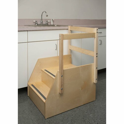 Whitney Brothers 2-Step Guard Rail Step Stool
