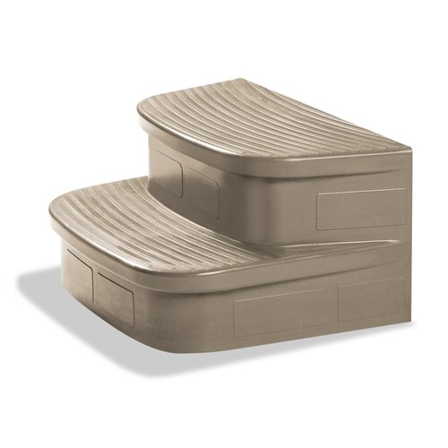 Lifesmart LifeSmart Discovery Matching Sandstone Spa Steps For The Rock Solid Simplicity Spa