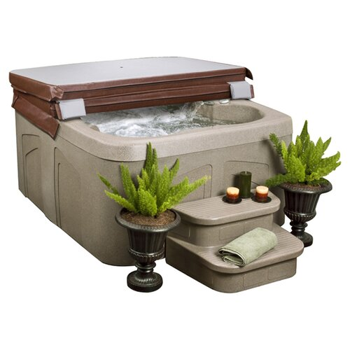 Lifesmart 4-Person 12-Jet Rock Solid Simplicity Plug and Play Spa
