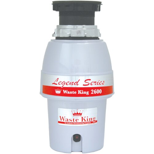 Waste King Legend Series 1/2 HP EZ-Mount Garbage Disposal with Continuous Feed
