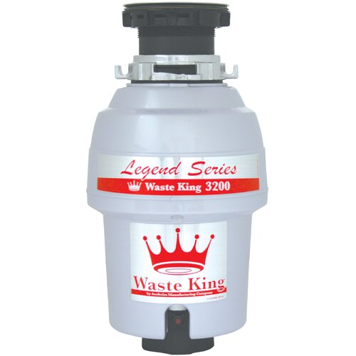 Waste King Legend Series 3/4 HP EZ-Mount Garbage Disposal with Continuous Feed