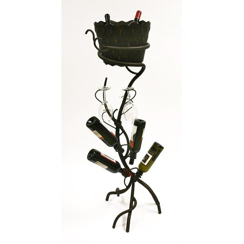 ArtDeco 4 Bottle Wine Rack