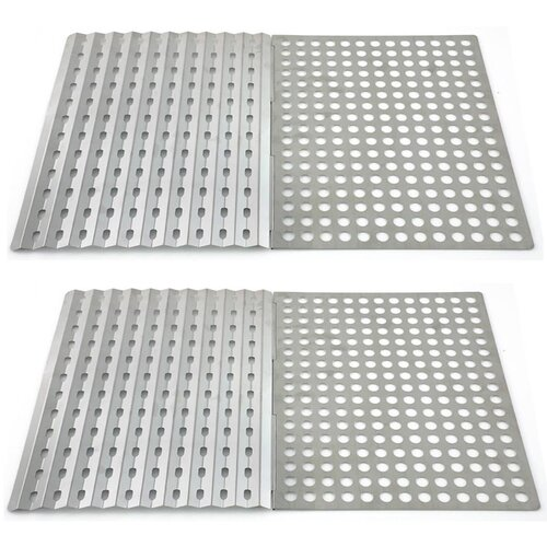 Stainless Steel Reusable Grill Sheet (Set of 2)