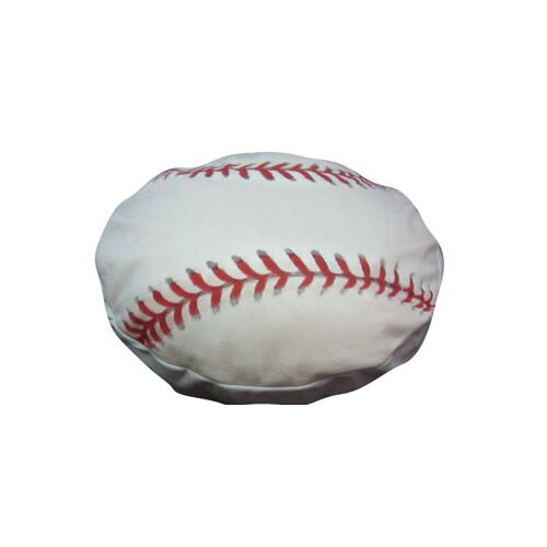 Dogzzzz Round Baseball Dog Pillow