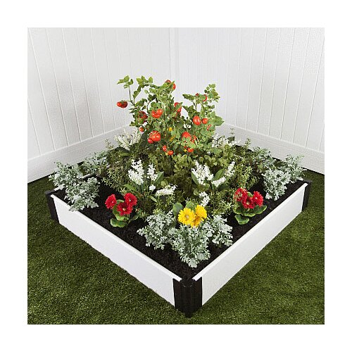 Classic White Square Raised Garden