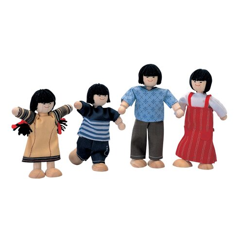 Dollhouse Asian Doll Family of 4