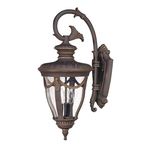 Nuvo Lighting Philippe 3 Light Large Arm Down Wall Lantern
