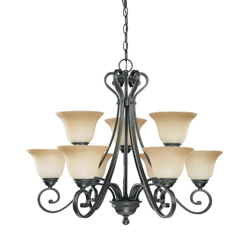 Nuvo Lighting Montgomery 9 Light Chandelier