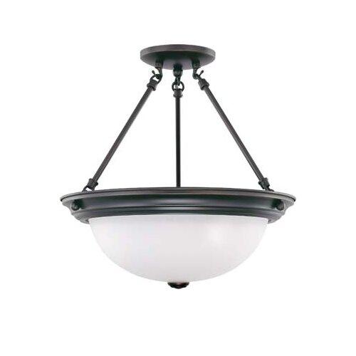 "Nuvo Lighting 15.5"" 3 Light Semi Flush Mount"