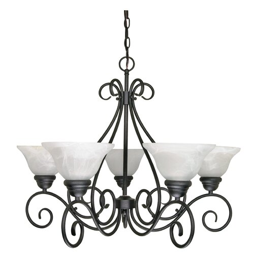 Nuvo Lighting Castillo 5 Light Chandelier