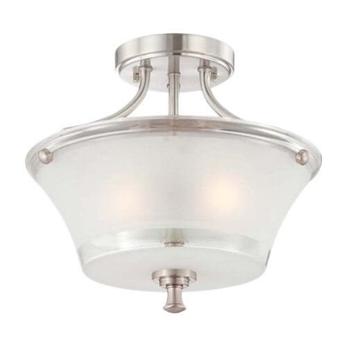 Nuvo Lighting Patrone 2 Light Semi Flush Mount